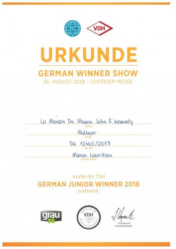 VDH German Junior Winner2018